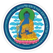 Blue Medicine Buddha Window Sticker (2 Pc/set)