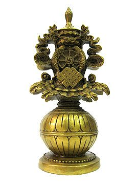 Brass Eight Auspicious Objects (S)