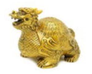 Bronze Color Longevity Dragon Tortoise