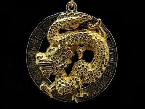 Chinese Dragon Feng Shui Key Chain