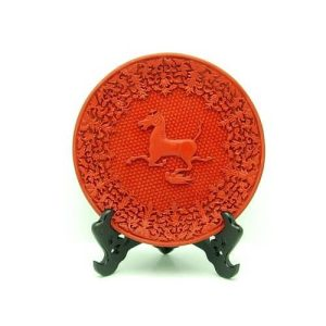 Cinnabar Lacquerware Red Horse on Swallow1