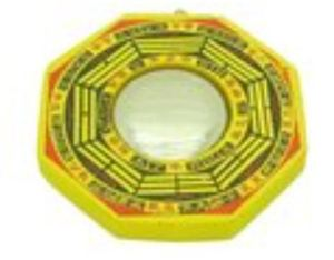 Convex Yellow Mirror Bagua
