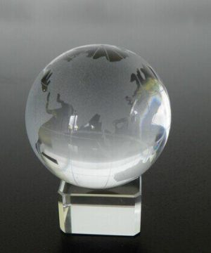 Crystal Globe to Enhance Mentor and Success Luck (80mm)