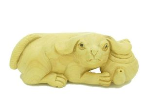 Dog With Teapot Carving1