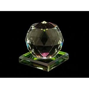 Faceted Clear Crystal Ball 40mm1