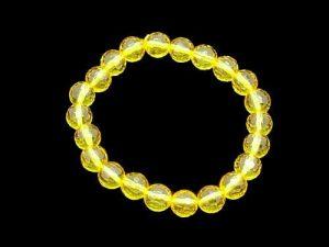 Faceted Yellow Swarovski Bracelet 8mm1