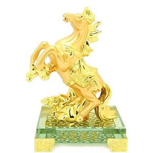 Golden Horse Figurine for Victory & Success Luck
