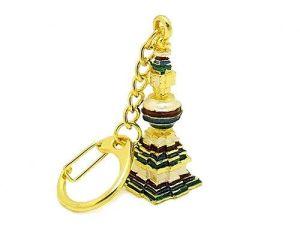 Kalachakra Stupa Keychain Amulet