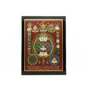 Mandala Print Talisman with Universal Tortoise1