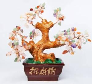 Mix Gems Feng Shui Crystal Tree