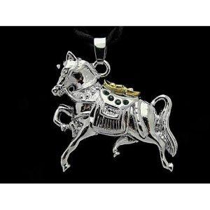 Precious Horse Pendant with Necklace1