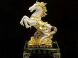 Rearing White Horse on Coins
