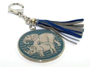 Rhino & Elephant Anti Burglary Keychain Amulet