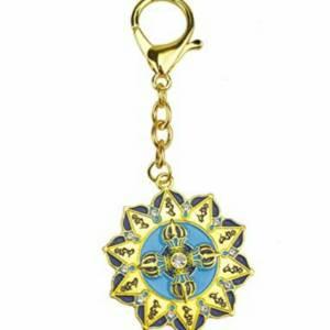 Ten Hum Double Dorje Protection Key Chain