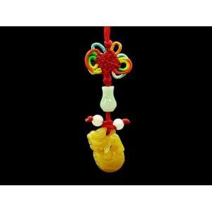 Yellow Jasper Pi Xie Stepping on Ball Hanging1