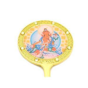 Yellow Tara Mirror for Wealth and Abundance1