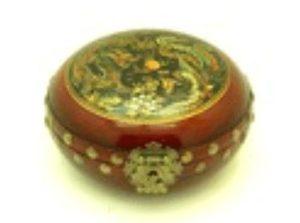 7 Oriental Antique Style Dragon & Phoenix Box (Round)