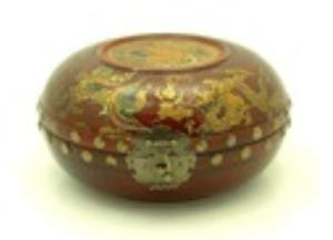 9 Oriental Antique Style Dragon & Phoenix Box (Round)
