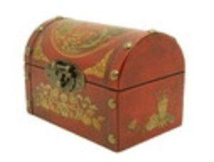 Antique-Looking Dragon & Phoenix Oriental Jewellery Box