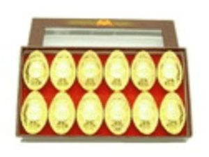 Auspicious Coins Embossed Gold Ingots (M) (Set Of 12)