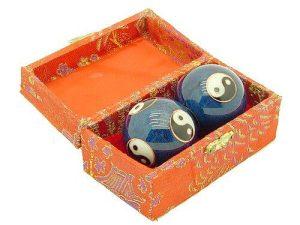 Blue Yin Yang Chinese Health Iron Balls1