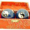 Blue Yin Yang Chinese Health Iron Balls3