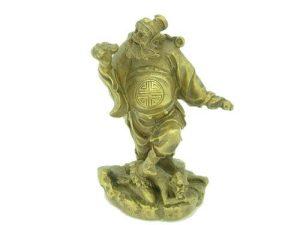 Brass Chong Kwei Holding a Bat & Sword1