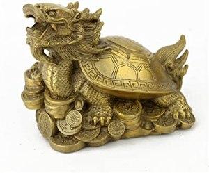 Brass Dragon Tortoise with Pakua