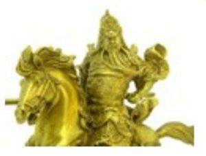 Brass God of War Kwan Kong Charging on Horse (L)