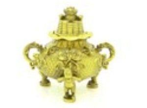 Brass Good Fortune Money Frog Incense Burner