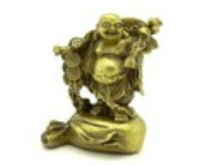 Brass Mini Traveling Laughing Buddha