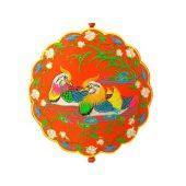 Brocade Embroidered Loving Mandarin Ducks Tassel1