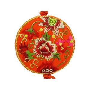Brocade Embroidered Peony Flowers Tassel1