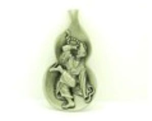 Exquisite Pewter Chi Kong Feng Shui Wu Lou for Health
