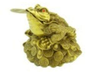 Feng Shui Money Frog on Mountain of Treasure (L)