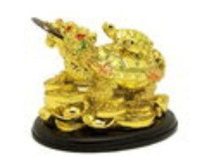 Golden Dragon Tortoise on Treasures Carrying Child