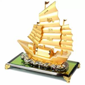 Golden Feng Shui Wealth Ship (M)