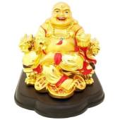 Golden Laughing Buddha for Wealth Luck
