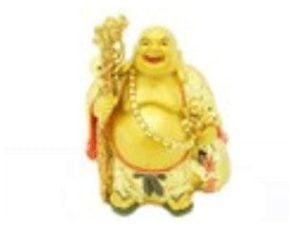 Golden Travelling Laughing Buddha with a Big Sack