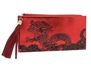 Good Fortune Red Dragon Purse