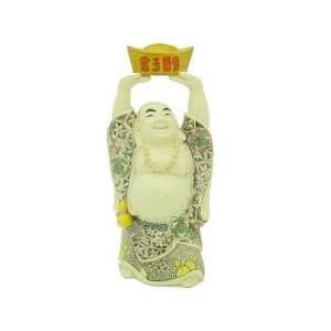 Laughing Buddha Lifting Gold Ingot1
