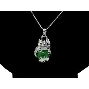 Majestic Dragon Embracing Auspicious Ball Pendant Necklace1