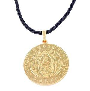 Medicine Buddha Healing Medallion with Necklace