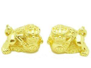 Pewter Golden Temple Lions1