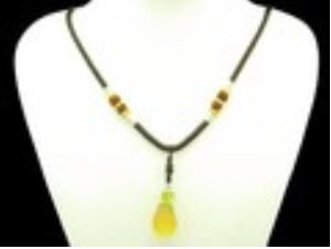 Pineapple Liuli Glass Pendant Necklace
