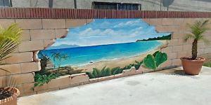 Poolside Wall Mural