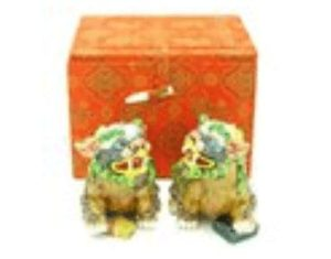 Porcelain Fu Dogs for Knowledge Luck