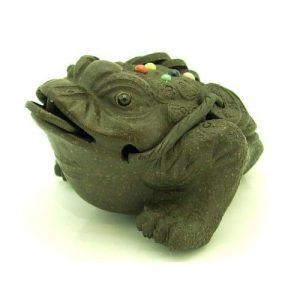 Purple Clay Sand Zisha Feng Shui Money Toad1