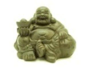 Purple Clay Sand Zisha Laughing Buddha Holding Gold Ingot