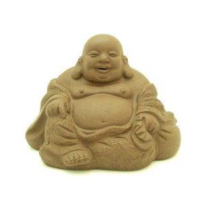 Purple Clay Sand Zisha Sitting Laughing Buddha (S)1
